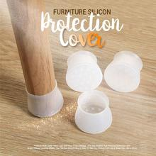 round square silicon chair leg caps 16pcsset furniture protection cover table feet cover 1 houseware kitchen sociovam